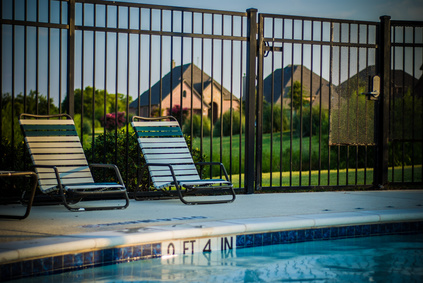 Our fence installers often use aluminum fencing for pool security fences.