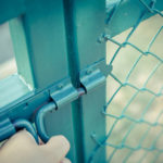Coated chain link fences