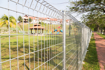 chain link fencing installed at area park